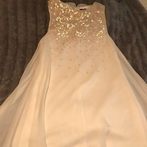 Ted Baker London Cream Dress w/sequins